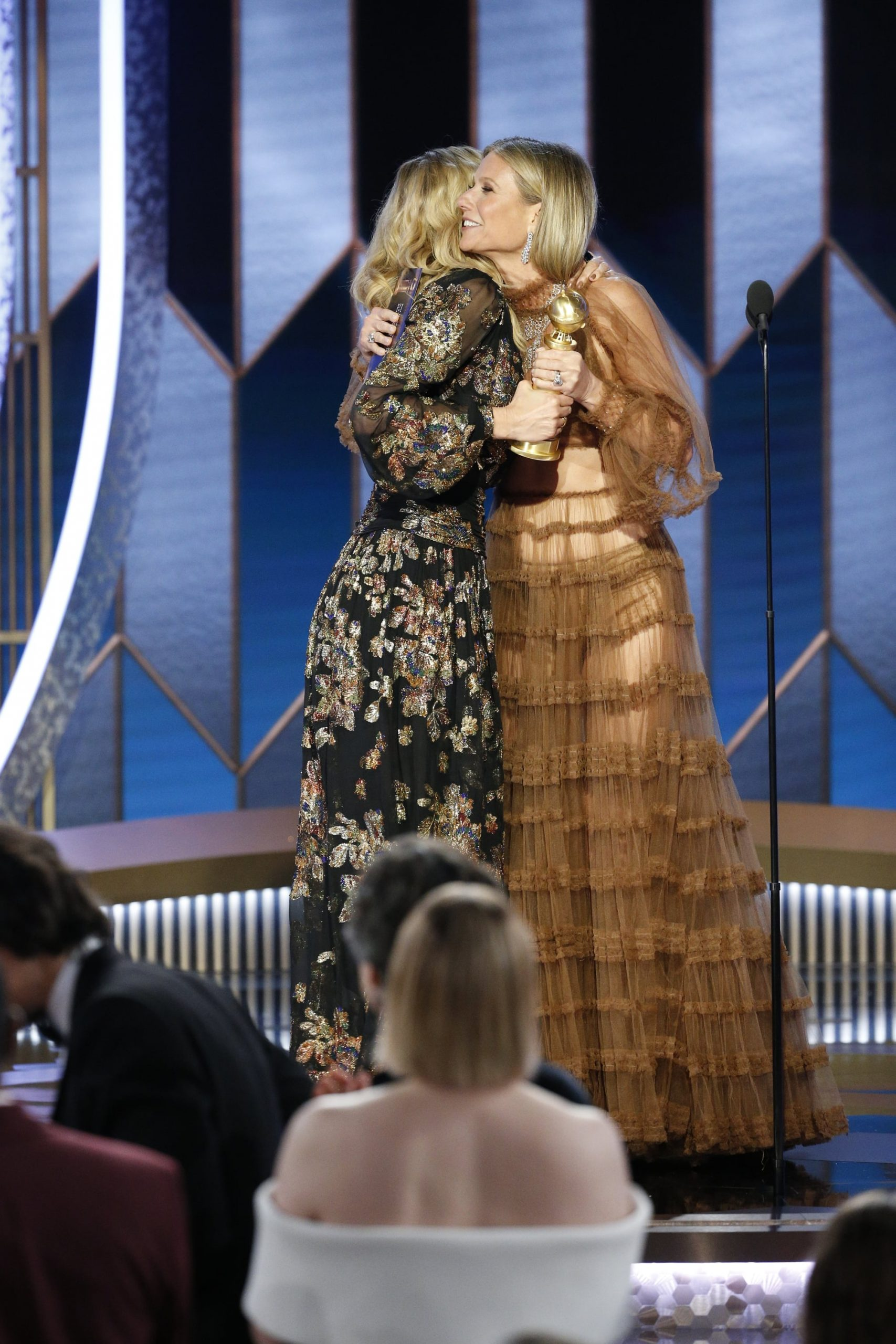 Laura Dern Gwyneth Paltrow at 2020 Golden Globes scaled - Editor's Letter