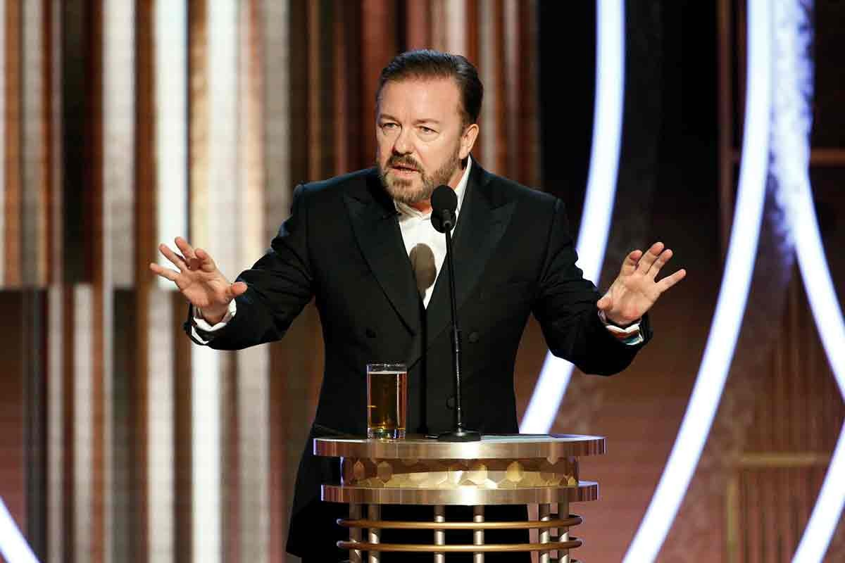 ricky gervais golden globes 2020 opening monologue 01 getty handout - 7 Lovely Moments of the Golden Globes