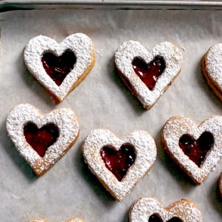 Linzer Cookies for Valentines Day