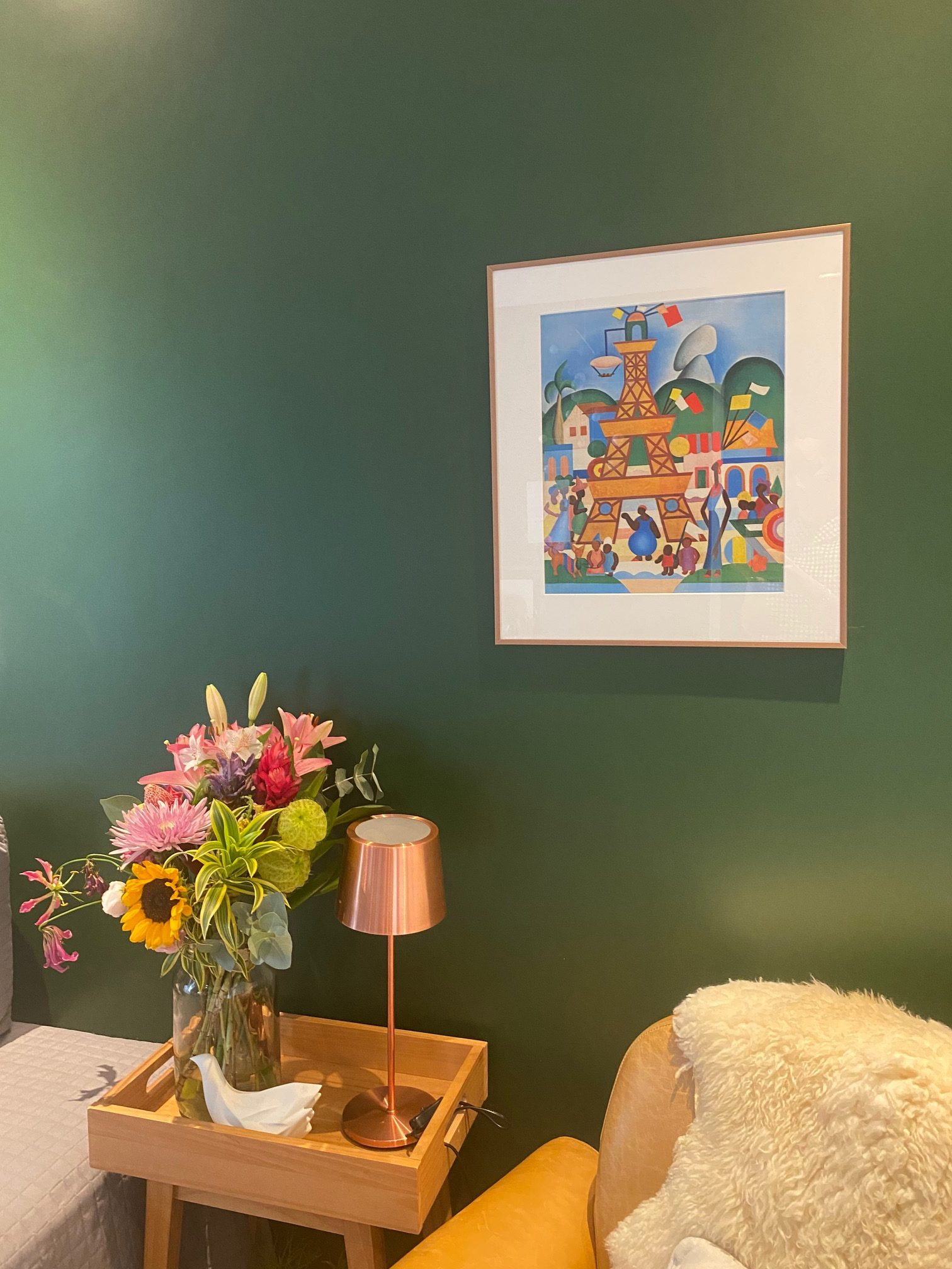 IMG 4732 rotated - Office Tour: Bibi Schick's Cozy-Green Home Office