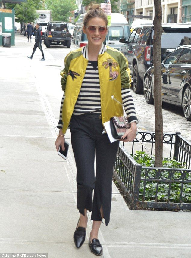 Olivia Palermo rocks colorful bomber jacket for Valentino 2018 show - Back to The Office: Chic & Cool Looks Para Trabalhar Lolla Approved